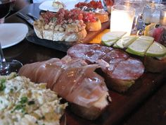 Bruschetta boards at Postino Wine Cafe