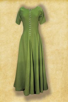 Medieval middle age short sleeves cotte simple with laceing. Simple Medieval Dress, Medieval Tunic, Renaissance Clothing, Medieval Fashion, Historical Clothing, Merida Dress, 14th Century Clothing, Viking Dress, Simple Gowns