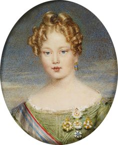 D. Maria II, queen of Portugal, 14 years old.