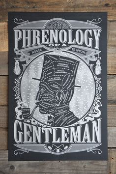 """Phrenology of a Gentleman"" and Other Vintage-Inspired Manly Posters and T-Shirts by Maiden Voyage 