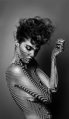 Justin M. Maller black and white (sim light and shadow play to a 50's Playboy shoot)