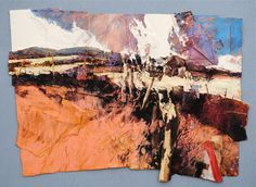 Risultati immagini per David Tress Collage Landscape, Landscape Artwork, Abstract Landscape, Abstract Art, Texture Art, Texture Painting, Oeuvre D'art, Mixed Media Art, Les Oeuvres