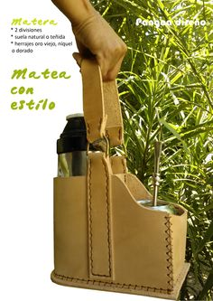Mateá con estilo ;) Matera / cuero / Uruguay Carrier Bag Holder, Felt Diy, Leather Bag, Messenger Bag, Satchel, Yerba Mate, Purses, Bags, Leather Craft