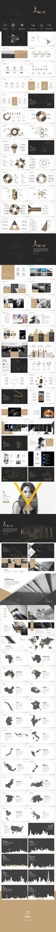 Archie Presentation Template - #Business #PowerPoint #Templates Download here: