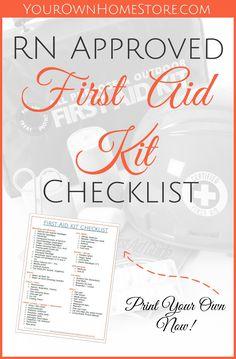 Printable+RN+Approved+First+Aid+Kit+Checklist+via+@https://www.pinterest.com/YOHSPrep/