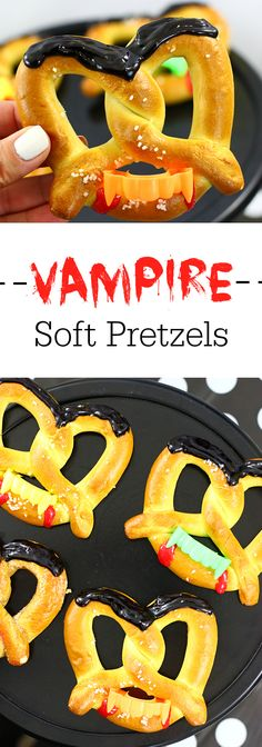 Vampire Soft Pretzels and Delicious Halloween Shake Ideas AD