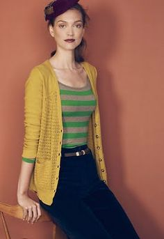 long cardigan, pencil skirt. --Something my youth leader would wear