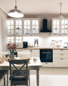 Ikea Kitchen, Kitchen Redo, Kitchen Layout, Home Decor Kitchen, Kitchen Furniture, Kitchen Interior, Home Interior Design, Home Kitchens, Kitchen Remodel