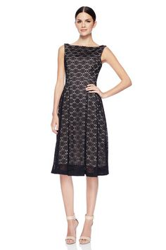 This flirty black sleeveless dress features a fun, geometric print with a cinched waistline. The pleats of this patterned dress create a classic modern aesthetic  that compliments every body type. <br><br>- Polyester,  Fully lined.<br>  <br>-Center  back invisible zipper.<br><br>-Dry clean only. <br><br>-Approximate  length waist  to  hem: 23 in.