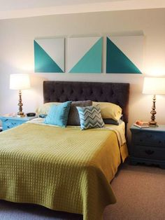 Bedroom Art Above Bed Canvases Diy Canvas 46 Ideas Bedroom Art Above Bed, Diy Wall Decor For Bedroom, Diy Wall Art, Diy Home Decor, Diy Bedroom, Master Bedroom, Easy Canvas Art, Diy Canvas, Wall Canvas
