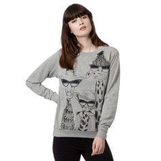 H! by Henry Holland Designer grey sunny giraffe sweater- at Debenhams.ie   35