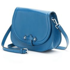 Pava Alika Leather Saddle Crossbody Bag (Blue) (12.945 RUB) ❤ liked on Polyvore featuring bags, handbags, shoulder bags, blue, blue shoulder bag, leather shoulder handbags, crossbody, cross body handbags and crossbody shoulder bags