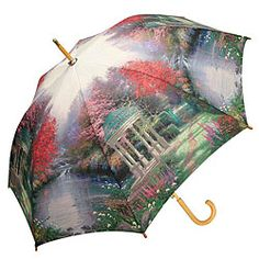 Thomas Kinkade Umbrellas $29.95 with Free U.S. Shipping, shop now at http://www.artistgifts.com/coy-umbrellas/thomas-kinkade-umbrella.html