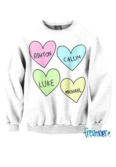 5 Love crewneck - Fresh-tops.com I need this SOOO much!! My favorite band!! #5sos