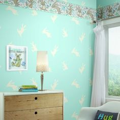 Garden Frolic Border. Young at Heart book by York Wallcoverings.