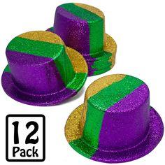 Glitter Mardi Gras Top Hat (12) Image