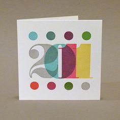 Woodletter 'Twenty Eleven' New Year card