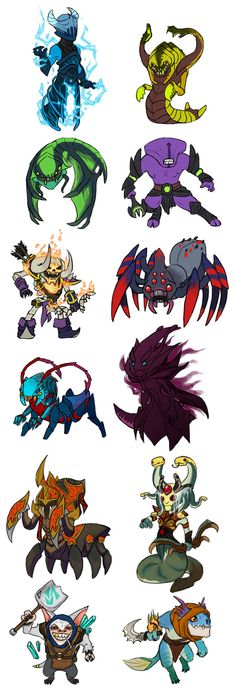 Dota 2 AGI dire heroes by spidercandy