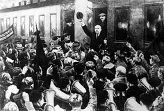 THIS DAY IN WWI -  APRIL 16 1917 : Vladimir Lenin, leader of the revolutionary Bolshevik Party, returns to Petrograd after a decade of exile to take the reins of the Russian Revolution.
