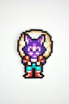 Neko Secret of Mana aimant Super Nintendo Perler Bead Sprite