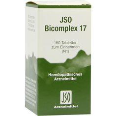 JSO BICOMPLEX Heilmittel Nr. 17:   Packungsinhalt: 150 St Tabletten PZN: 00544987 Hersteller: ISO-Arzneimittel GmbH & Co. KG Preis: 5,64…