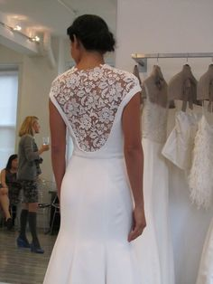 not that I'm planning out my baby sister's wedding in my head or anything...but I could totally see her in a back like this