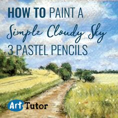 See how you can easily create a cloudy sky with just three pencils.