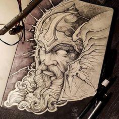 Thor done by @rustemhorzum at @tattoostudio115 Bergen, Norway