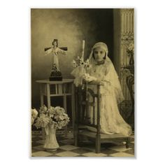 vintage first communion photo