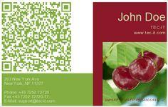 QR Code Business Card Generator http://businesscards.tec-it.com/Free-Business-Cards.aspx