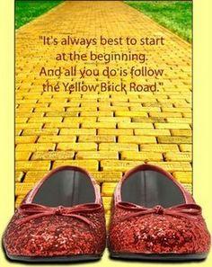 The Wonderful Wizard of Oz Yellow Brick Road   follow the yellow brick road follow the yellow brick road
