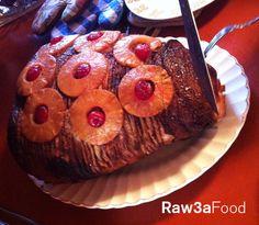 Ham Cooked By Zmorod Garnem ~ Thanksgiving, baked, slice, pineapple, Food ~