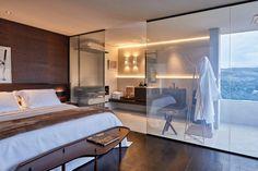 Apartamento 22 ambiente de Angélica Araújo para a Casa Cor Minas | Angélica Araújo usou o Smart Glass, um vidro dinâmico que pode ter sua transparência / opacidade controlada pelo usuário | smart glass | vidro como divisória