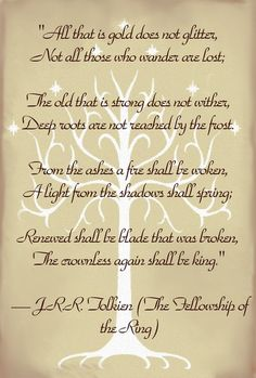 LOTR Lord of the Rings Quote Tolkein - Continued!