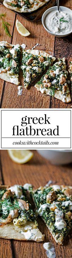 Greek Flatbread Recipe with Homemade Tzatziki