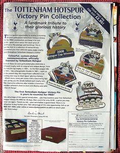 Tottenham Hotspur Victory pin badge collection (Danbury Mint 2010)