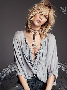 Free People....Ruffle Me Up Blouse