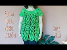 (16) Blusa Hojas verde limón parte 1 - YouTube
