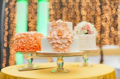 Cake Table with backdrop