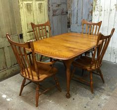 Small Dining Set, Cushman Furniture, Country Chic Decor By VintageHipDecor  On Etsy