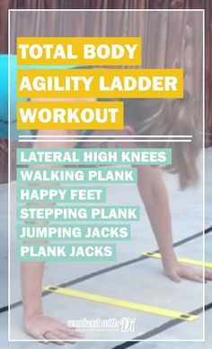 Total Body Agility Ladder Workout. Most people think agility ladders are just about cardio, in this workout I share that you can get a great workout for the whole body!