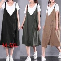 Material:100%Cotton Type:Dress Color:Khaki,Black,Army Green Package include:1 Dress (Not Include