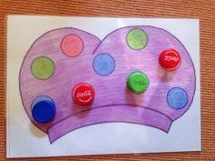 thema sinterklaas : Doppentekening voor jonge kleuters Met dank aan Kimberly V. Saint Nicolas, Childcare, Kids Playing, Preschool, Creative, Crafts, Google, Gaming, Games