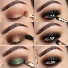 How To Apply Eye Shadow For Smokey Eyes Make-up Do you've grey eyes? Discover all of the make up and picture associated information right here. Discover ways to select eyeshadows for mild, darkish grey eyes. Green Eyeshadow, Makeup For Green Eyes, Creamy Eyeshadow, Natural Eyeshadow, Colorful Eyeshadow, Colorful Makeup, Makeup Hacks, Makeup Routine, Makeup Tips