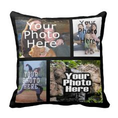 Four Photo Collage Custom throw Pillow from zazzle Custom Pillows, Decorative Throw Pillows, Diy Pillows, Wedding Pillows, Christmas Gifts For Him, Wedding Keepsakes, Colorful Pillows, Getting Bored, Craft Gifts