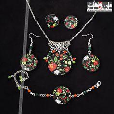 ست زیورآلات شاپرک خیال: جهت آگاهي از جزئيات اين محصول و چگونگي خريد آن، لطفا به فروشگاه اينترنتي صنايع دستي من و هنر مراجعه فرماييد. www.manohonar.com Jewelry, Jewlery, Jewerly, Schmuck, Jewels, Jewelery, Fine Jewelry, Jewel, Jewelry Accessories
