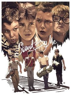 Stand by Me (Even More Cool Art from the Stephen King Art Show - The Shining, Gunslinger and More — GeekTyrant) Best Movie Posters, Movie Poster Art, Poster S, Beau Film, Stand By Me, Great Films, Good Movies, 80s Movies, Love Movie