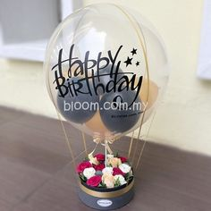 We selling balloon for surprise to recipient which deliver with flowers and gifts Diy Hot Air Balloons, Floating Candle Centerpieces, Online Florist, Balloon Ideas, Chocolate Bouquet, Balloon Bouquet, Birthday Decorations, Champagne, Baby Shower
