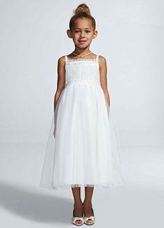 54d6e5b9b7f flower girl dresses · Spaghetti Strap Tulle Ball Gown Style WG1347