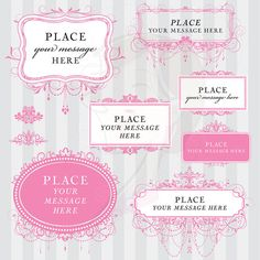 Vintage Digital Frames Pink Clipart Chandelier Ornate DIY Engagement Wedding Invitation Victorian Design Clip Art Download 10455 #VintageDigitalFrames #PinkFrames #ChandelierClipart